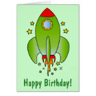 Rocket Ship Out-of-this-World Nephew Card