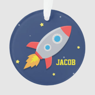 Rocket Ship, Outer Space, For Boys Ornament
