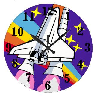 Rocket Ship Spacecraft Large Clock