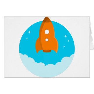 Rocket Ship Taking Off Card