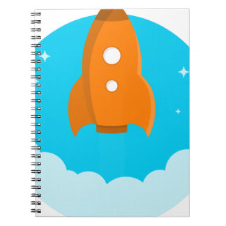 Rocket Ship Taking Off Notebooks