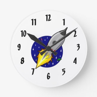 Rocket Ship Wall Clock