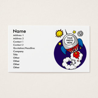 rocket space scientist business card