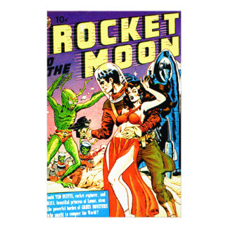Rocket to the Moon Stationery
