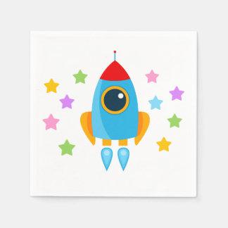 Rocket with Stars Disposable Serviette