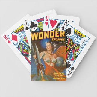 Rocket Woman Bicycle Playing Cards