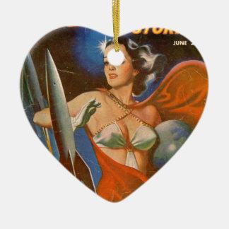 Rocket Woman Ceramic Ornament