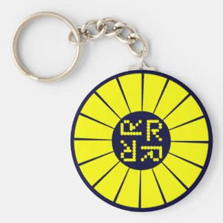 Rocketeer keyring basic round button key ring