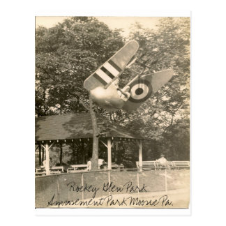 Rockey Glen Amusement Park Moosic Pa. Postcard
