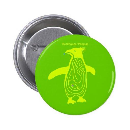 Rockhopper Penguin Maze Y Pinback Buttons