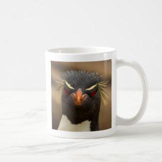 Rockhopper penguin portrait coffee mug