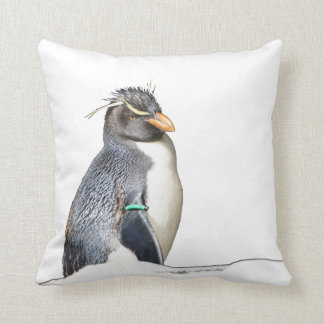 Rockhopper Penguin Throw Pillow