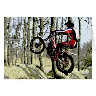 Rockhopping trials rider birthday card