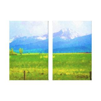 Rockies Impressionist Canvas Print