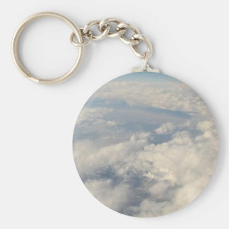 Rockies in Clouds Basic Round Button Key Ring