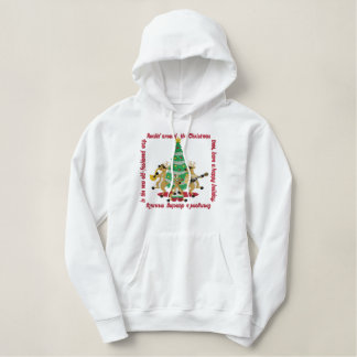 Rockin' Around The Christmas Tree Embroidered Hoodie