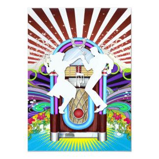 Rockin' Around the Clock Party - SRF 11 Cm X 16 Cm Invitation Card
