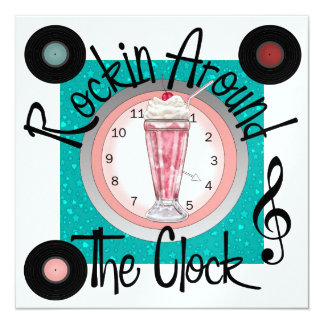 Rockin' Around the Clock Party - SRF Card