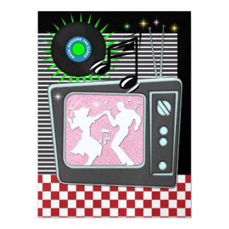 Rockin Around the Clock - SRF 17 Cm X 22 Cm Invitation Card