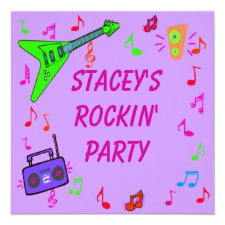 Rockin' Birthday Invite