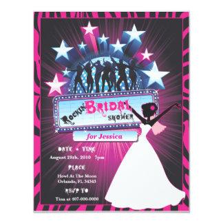 "Rockin Bridal Shower 4.25"" X 5.5"" Invitation Card"
