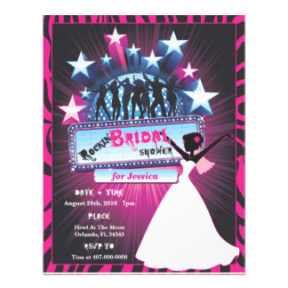Rockin Bridal Shower Custom Invitations