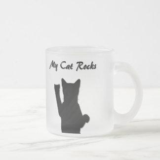Rockin' Cat Frosted Mug