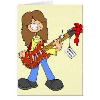 Rockin' Christmas Dude Card
