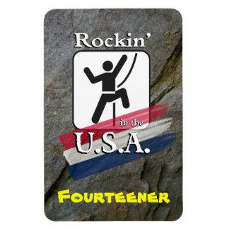 Rockin'. in the U.S.A. - Climber Magnet