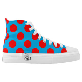 Rockin' Red Turquoise Dots 4Sergé High Tops