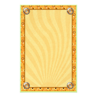 Rockin Retro Sun Kissed Orange Deco Design Stationery