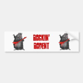 Rockin' Rodent Bumper Sticker