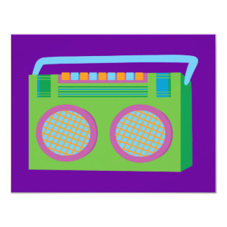 Rockin' Stereo 11 Cm X 14 Cm Invitation Card