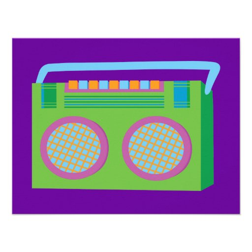 Rockin' Stereo Invites