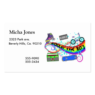 Rockin The 80s Double-Sided Standard Business Cards (Pack Of 100)