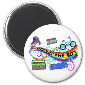 Rockin' The 80's 6 Cm Round Magnet