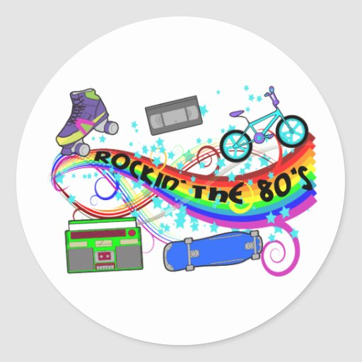 Rockin The 80s Stickers