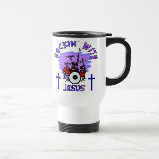 Rockin' With Jesus Christian Gift Travel Mug