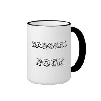 Rocking badger mug