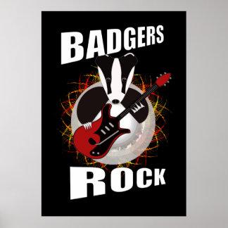 rocking badger poster
