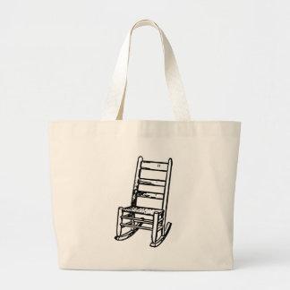 Rocking Chair Large Tote Bag