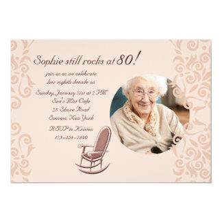Rocking Chair Photo Invitation