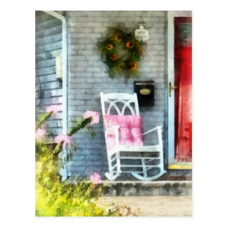 Rocking Chair With Pink Pillow Postcard