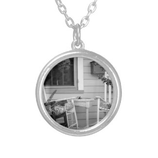 Rocking Chairs Round Pendant Necklace
