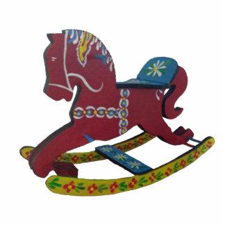 Rocking Dala Horse Christmas Ornament Photo Sculpture Decoration