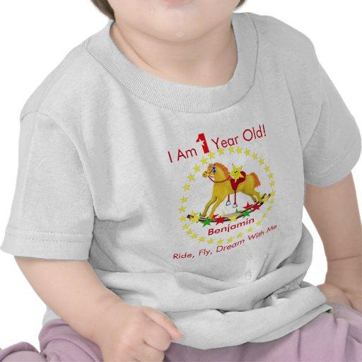 Rocking Horse 1st Birthday Party Shirts