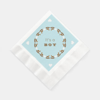 Rocking Horse Baby Shower Its a Boy Napkins Disposable Serviette