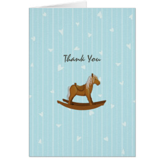 Rocking Horse Baby Shower Thank You Note Card
