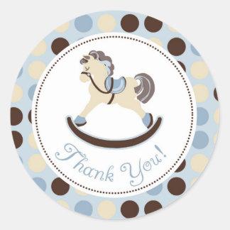 Rocking Horse Boy TY Sticker