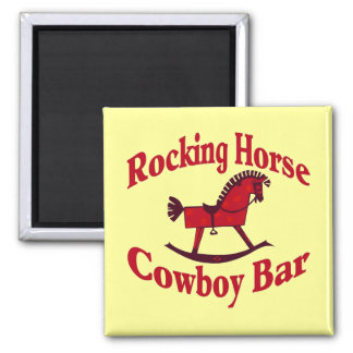 Rocking Horse Cowboy Bar Tank Top Magnet
